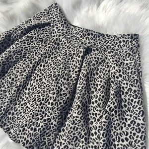 UO Cooperative Leopard Skater Skirt